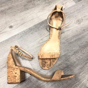 Schutz Chimes Heel block heel sandals size 7.5 tan